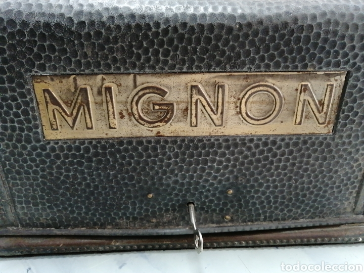 Antigüedades: Máquina de escribir alemana Mignon - Foto 2 - 252966035