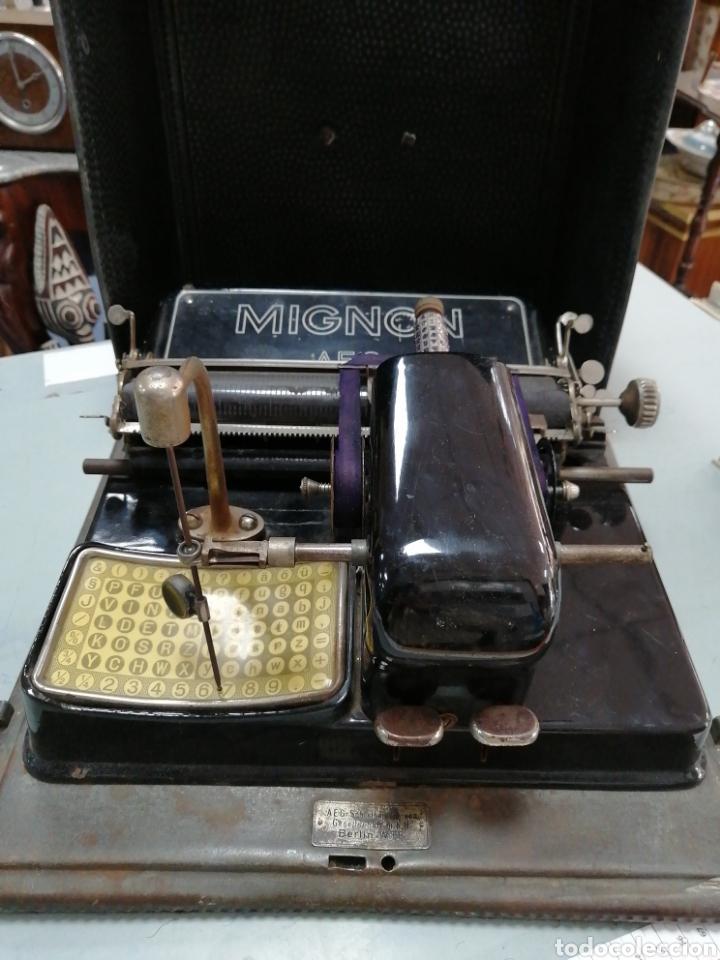Antigüedades: Máquina de escribir alemana Mignon - Foto 3 - 252966035