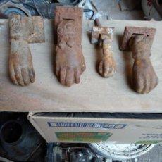 Antigüedades: LOTE DE CUATRO ALDABAS MANO DE FATIMA. Lote 252966675