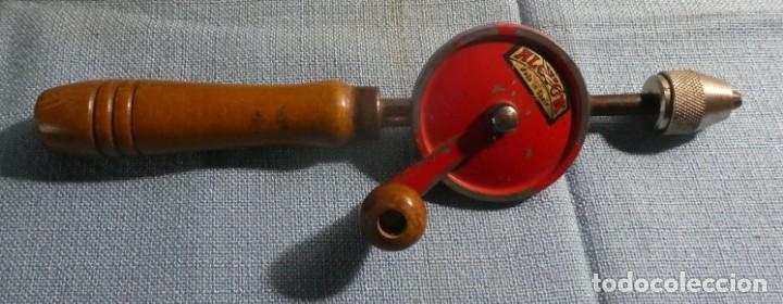 TALADRO MANUAL ALCYON (Antigüedades - Técnicas - Herramientas Profesionales - Carpintería )