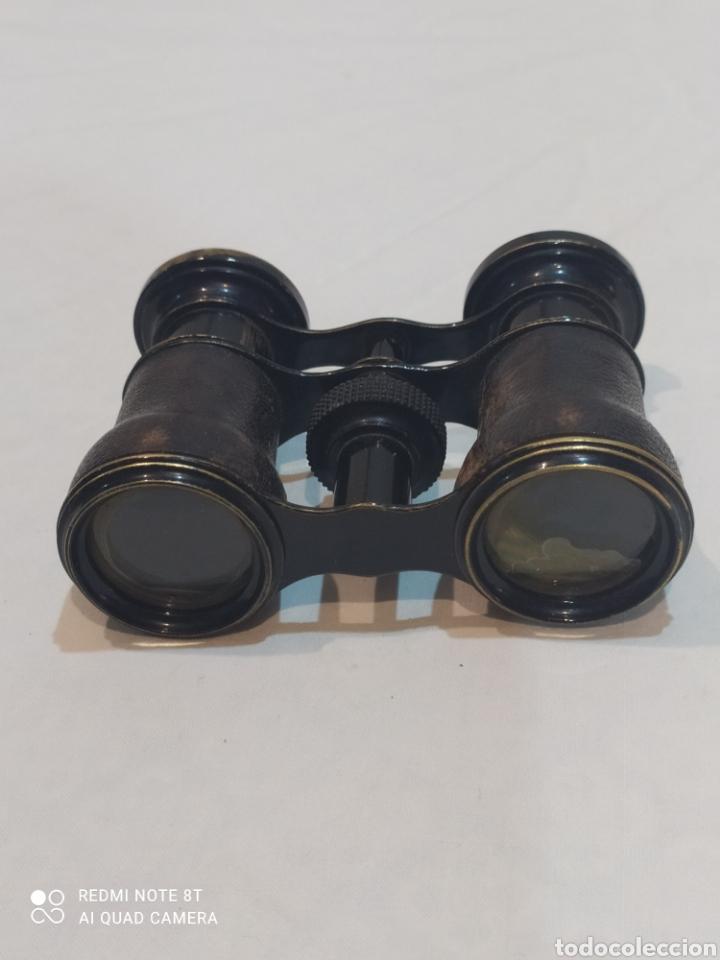 Antigüedades: Antiguos binoculares de piel y metal - Foto 2 - 253078040