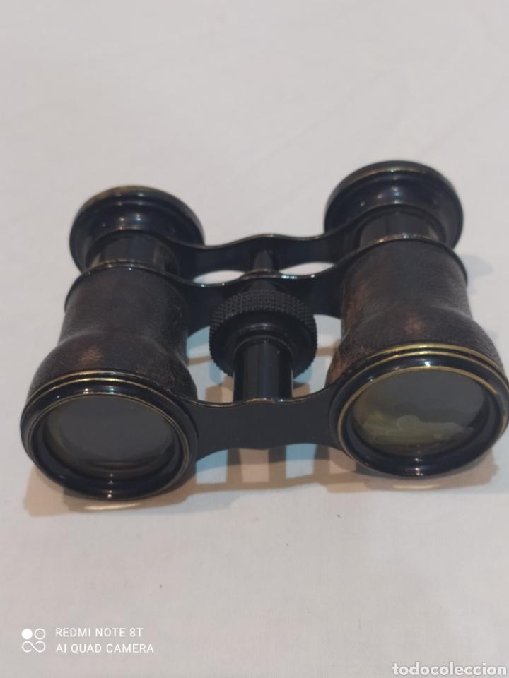 Antigüedades: Antiguos binoculares de piel y metal - Foto 3 - 253078040