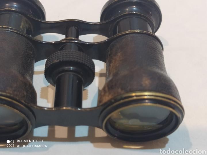 Antigüedades: Antiguos binoculares de piel y metal - Foto 6 - 253078040