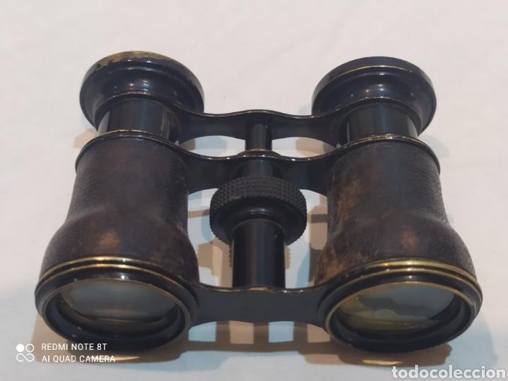 ANTIGUOS BINOCULARES DE PIEL Y METAL (Antigüedades - Técnicas - Instrumentos Ópticos - Binoculares Antiguos)