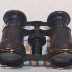 Antigüedades: ANTIGUOS BINOCULARES DE PIEL Y METAL. Lote 253078040