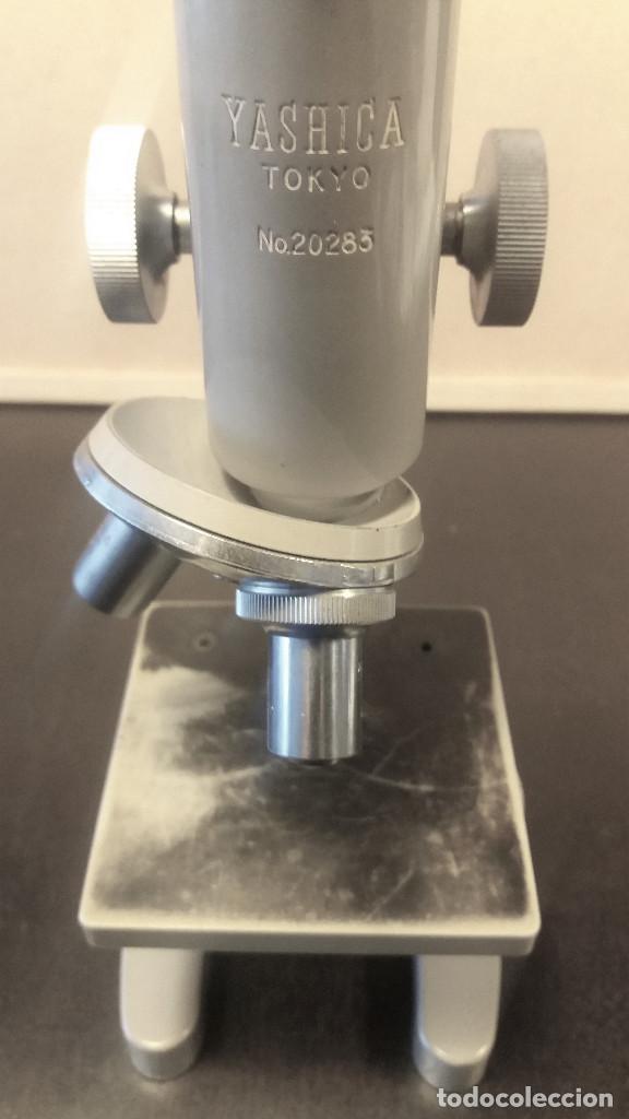 Antigüedades: Microscopio marca Yashica antiguo años 60 raro.vintage.Incompleto - Foto 6 - 253128535