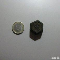 Antigüedades: ANTIGUA Y PEQUEÑA PESA DE 50 G. Lote 253273145