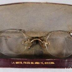 Antigüedades: ANTIGUOS ANTEOJOS QUEVEDO CON ESTUCHE. Lote 253325030