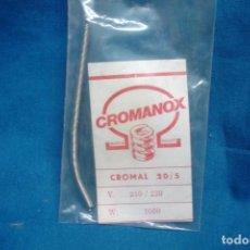 Antigüedades: RESISTENCIA CROMANOX CROMAL 20/5 - 210/230 V. 1000 W. - NUEVA. Lote 253562255