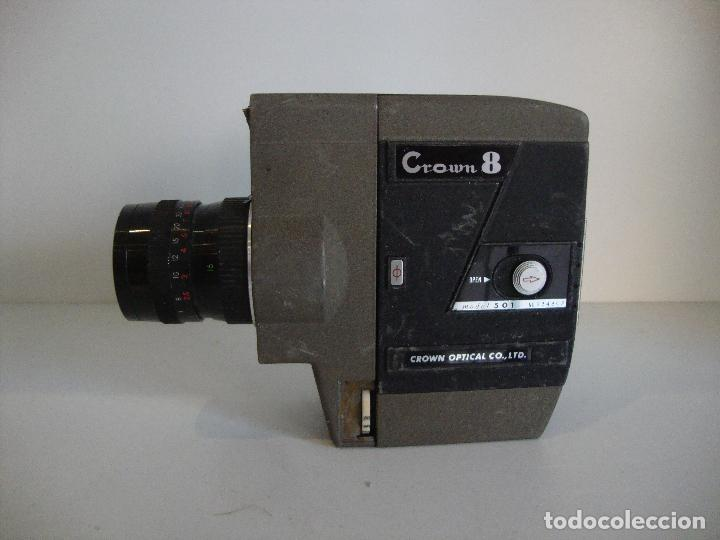 FILMADORA CROWN 8 NO COMPROBADA A REPASAR (Antigüedades - Técnicas - Aparatos de Cine Antiguo - Tomavistas Antiguos)