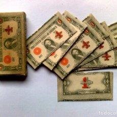 Antigüedades: CAJA ANTIGUA DE 10 HOJAS DE AFEITAR,ONE SILVER DOLLAR,SIN USAR.. Lote 253613305