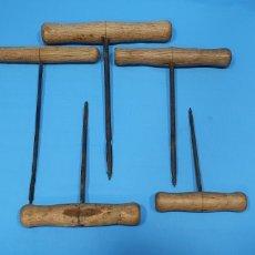 Antigüedades: LOTE DE BARRENAS DE CARPINTERO - DIFERENTES TAMAÑOS. Lote 253619200