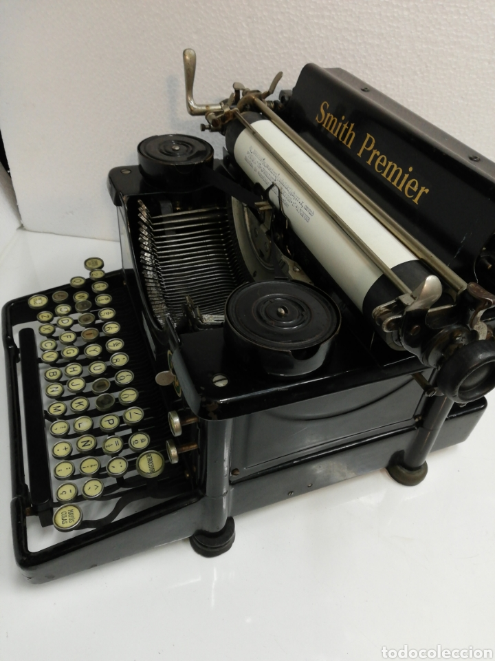 Antigüedades: Antigua máquina de escribir Smith Premier.America. Modelo 60. Año 1.926. - Foto 5 - 253633160