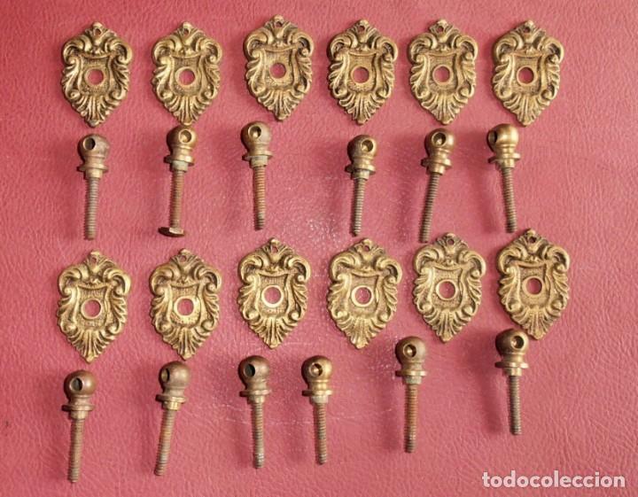 Antigüedades: 6, TIRADORES DE BRONCE, ANTIGUOS Y 2 BOCALLAVES - Foto 3 - 253744695