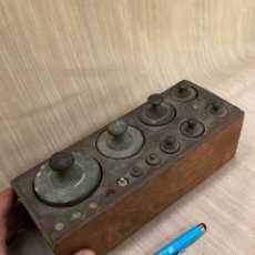 Antiquités: ANTIGUO JUEGO DE PESAS DE BASCULA!2KG.... Lote 253754185