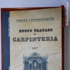 Antigüedades: NUEVO TRATADO DE CARPINTERÍA (1857) ILUSTRADO CON 40 LÁMINAS. 22 X 29 CM. MADERA EBANISTERÍA MUEBLES. Lote 253775505
