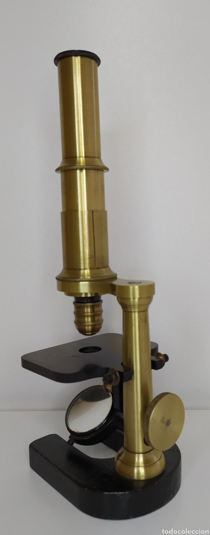 Antigüedades: Antiguo microscopio circa 1880. Tipo Schiek - Foto 3 - 253829690