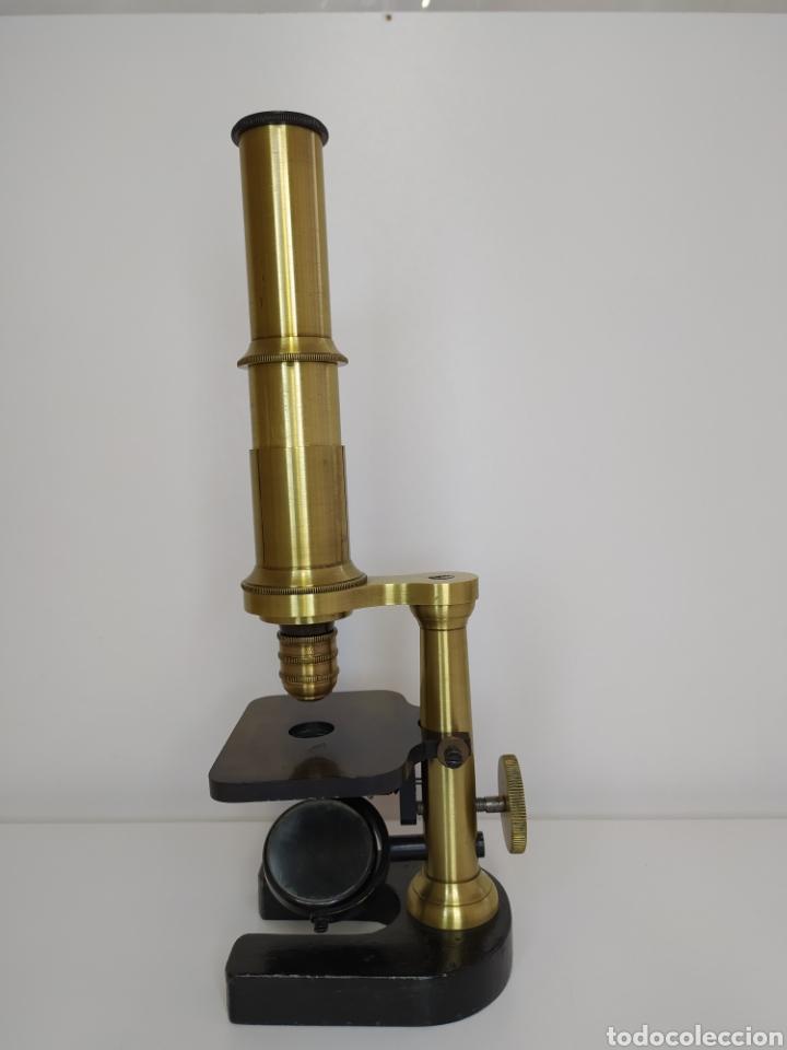 Antigüedades: Antiguo microscopio circa 1880. Tipo Schiek - Foto 5 - 253829690