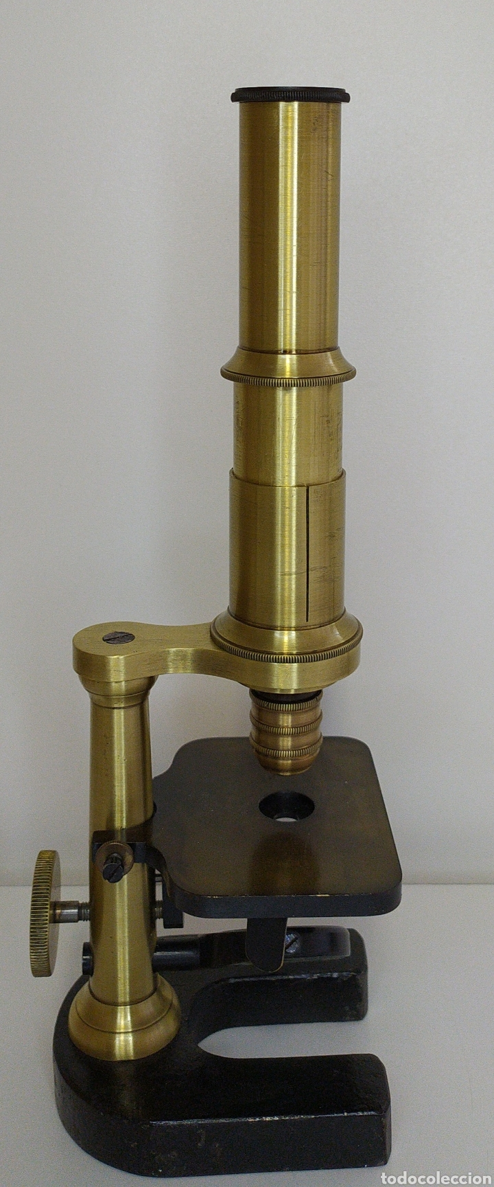 Antigüedades: Antiguo microscopio circa 1880. Tipo Schiek - Foto 6 - 253829690