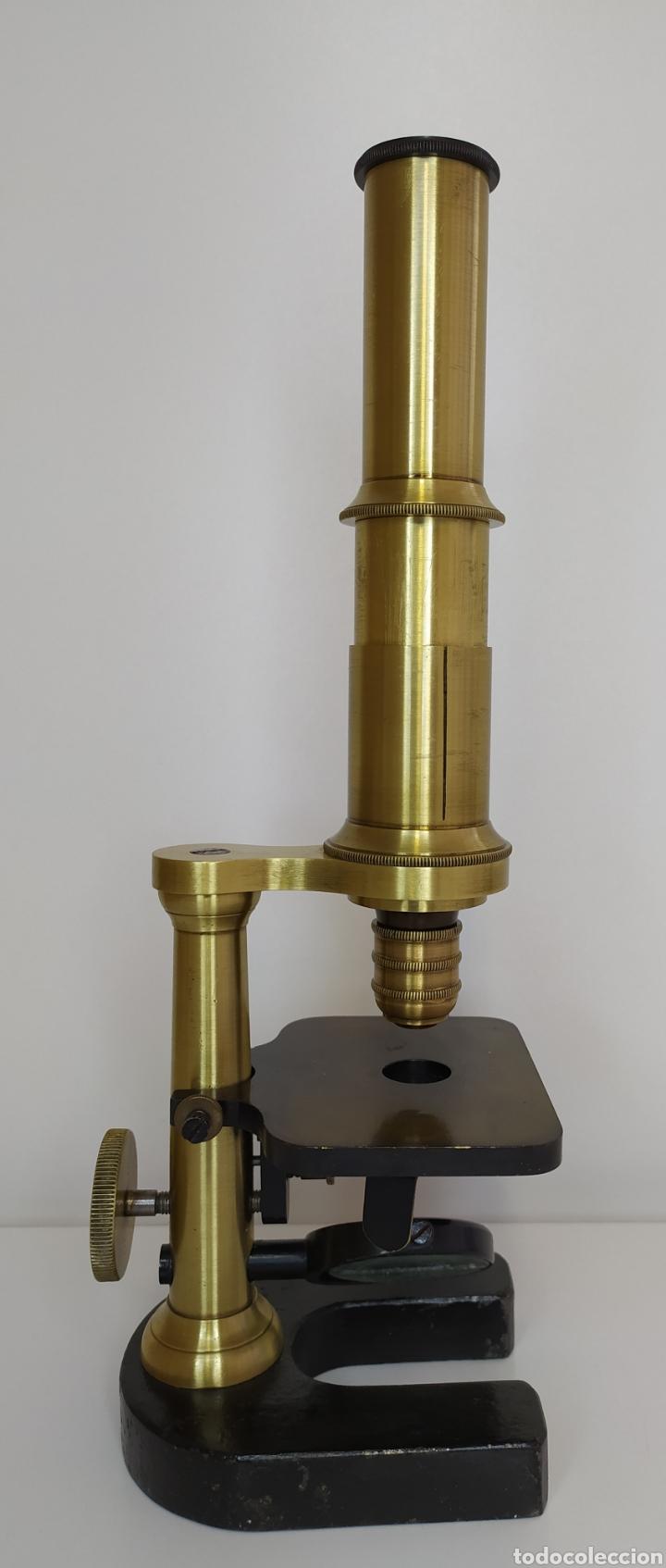 Antigüedades: Antiguo microscopio circa 1880. Tipo Schiek - Foto 8 - 253829690