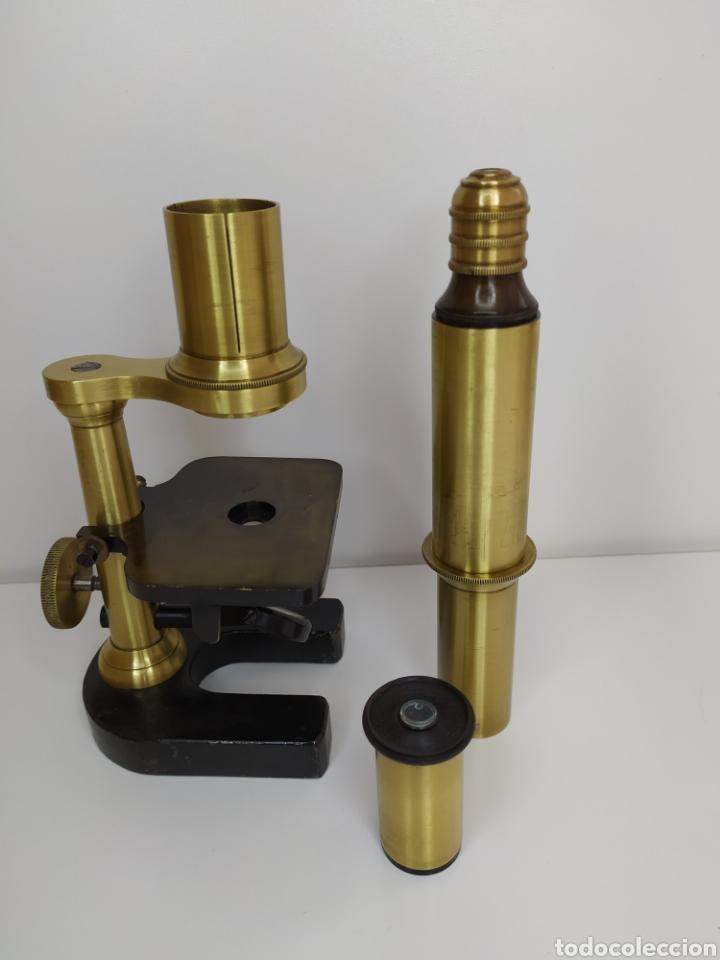 Antigüedades: Antiguo microscopio circa 1880. Tipo Schiek - Foto 17 - 253829690