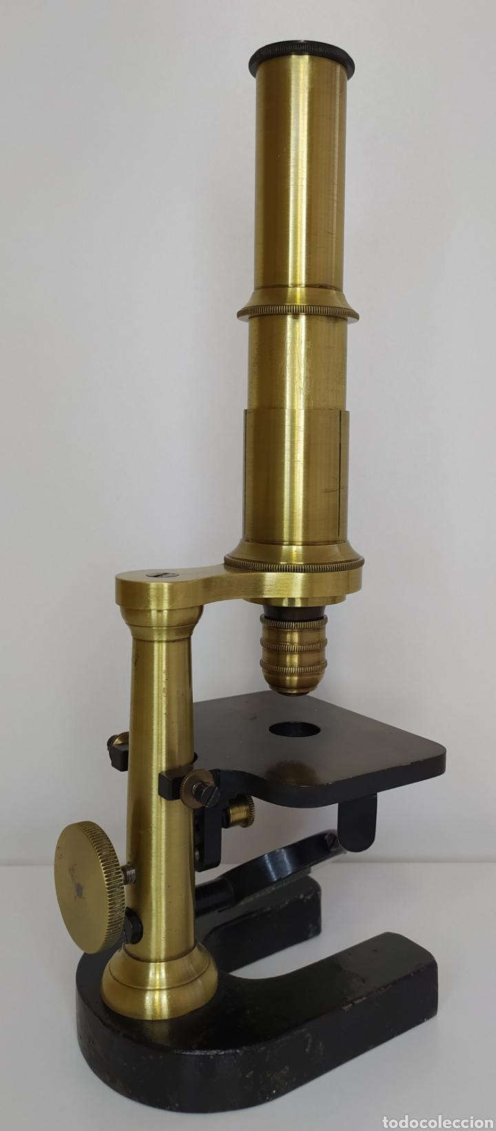 Antigüedades: Antiguo microscopio circa 1880. Tipo Schiek - Foto 21 - 253829690