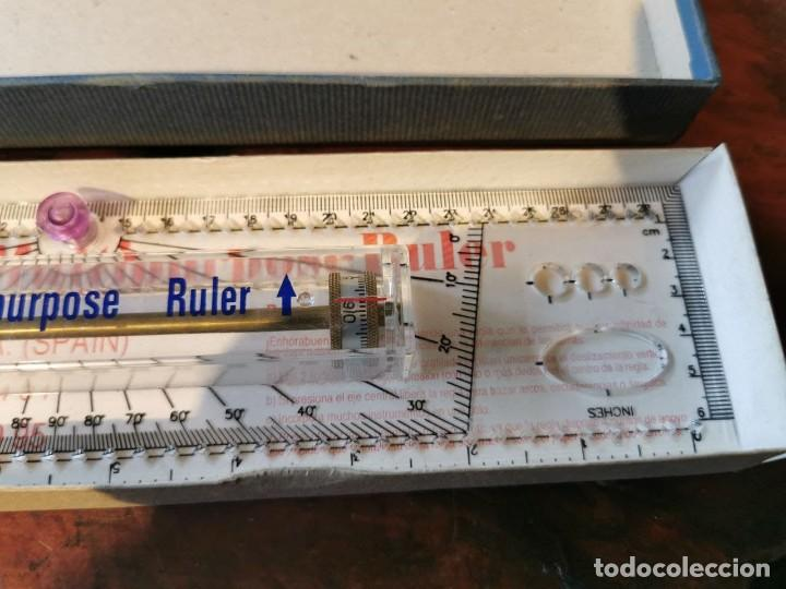 Antigüedades: REGLA MULTIUSOS FUJICA ROLLER RULER SR-01 MULTIPURPOSE RULER - Foto 3 - 253924225