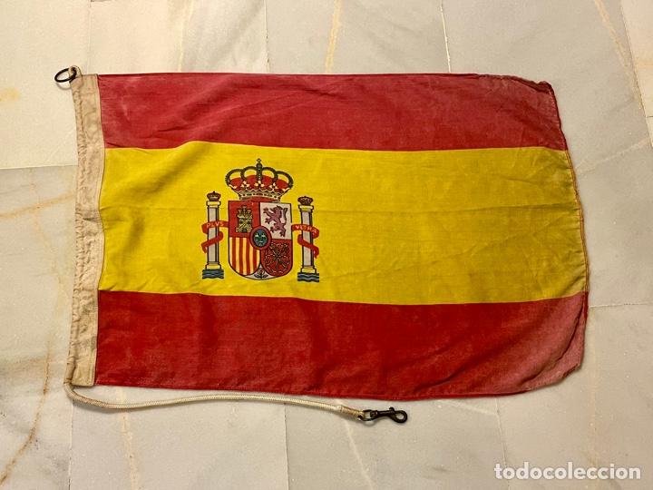 ANTIGUA BANDERA BARCO , PATRULLERA ARMADA ESPAÑOLA (Antigüedades - Antigüedades Técnicas - Marinas y Navales)