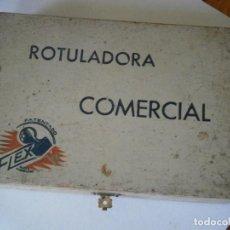 Antigüedades: ROTULADORA COMERCIAL, CON SUS PIEZAS, MARCA FLEX. (AÑOS 60/70). Lote 254127275