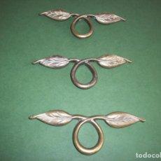 Antigüedades: LOTE DE TRES TIRADORES DE BRONCE .. Lote 254157830