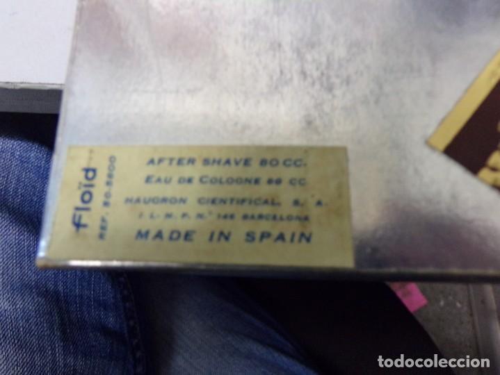 Antigüedades: antiguo estuche colonia perfume for men hombre afeitar floid barberia resto tienda vintage - Foto 6 - 254192850
