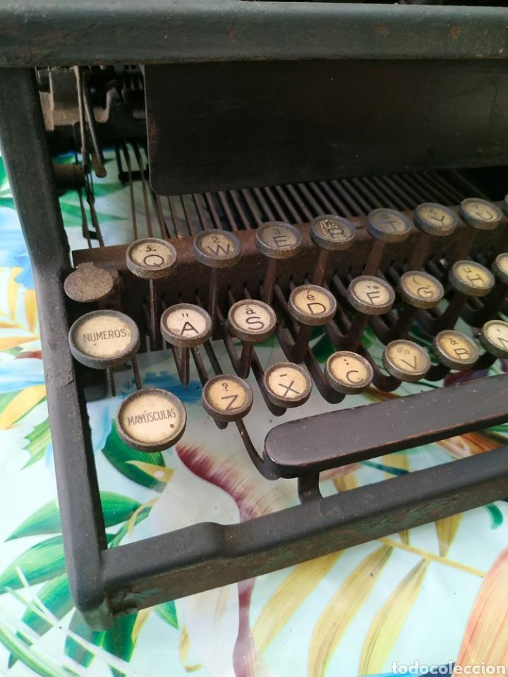 Antigüedades: Máquina de escribir, Remington J. Década 1910 - Foto 3 - 254209765