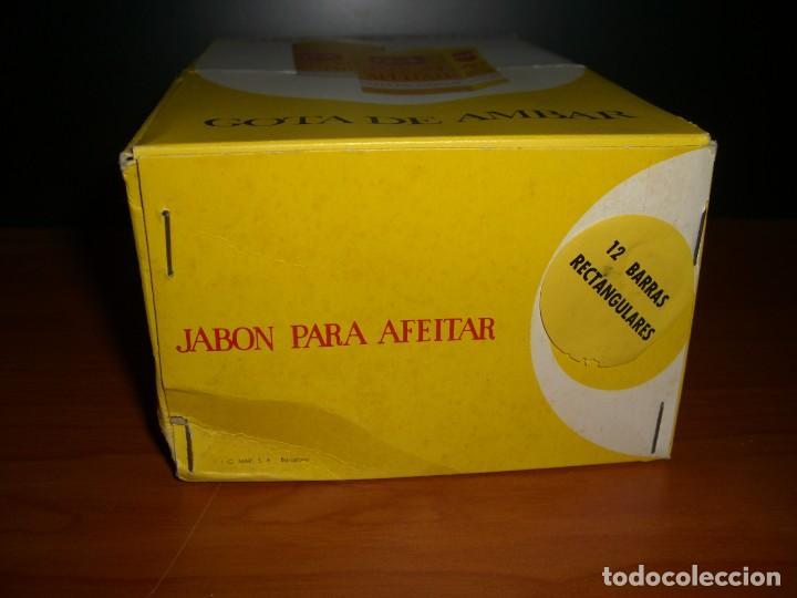 Antigüedades: CAJA EXPOSITOR CON 12 BARRAS DE JABÓN PARA AFEITAR GOTA DE AMBAR - Foto 6 - 254270530