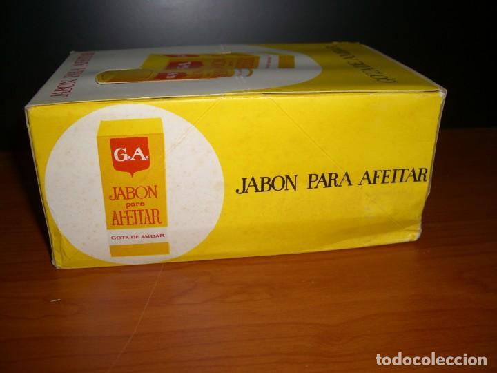 Antigüedades: CAJA EXPOSITOR CON 12 BARRAS DE JABÓN PARA AFEITAR GOTA DE AMBAR - Foto 7 - 254270530