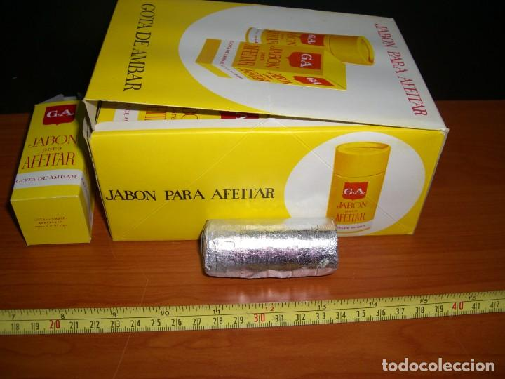 Antigüedades: CAJA EXPOSITOR CON 12 BARRAS DE JABÓN PARA AFEITAR GOTA DE AMBAR - Foto 11 - 254270530