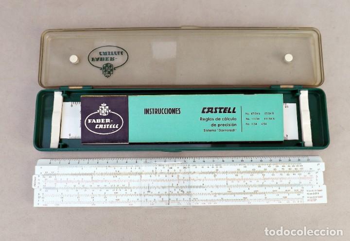 Antigüedades: REGLA DE CÁLCULO FABER CASTELL DARMSTADT 111/54 - Foto 2 - 254280760