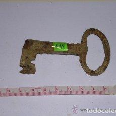 Antigüedades: ANTIGUA LLAVE DE HIERRO FORJADO. Lote 254281015