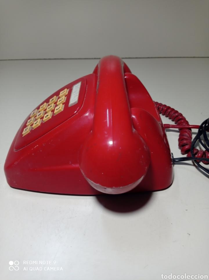 Teléfonos: Teléfono heraldo rojo de teclas de CTNE, Compañía Telefónica Nacional Española. El de línea directa. - Foto 5 - 254306575