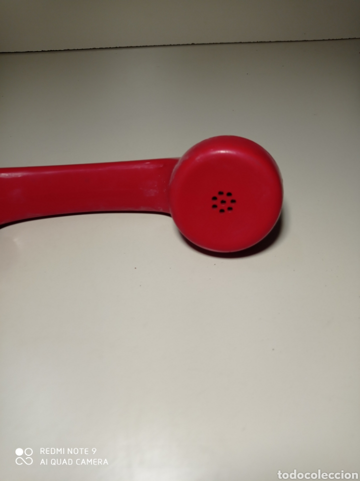 Teléfonos: Teléfono heraldo rojo de teclas de CTNE, Compañía Telefónica Nacional Española. El de línea directa. - Foto 11 - 254306575