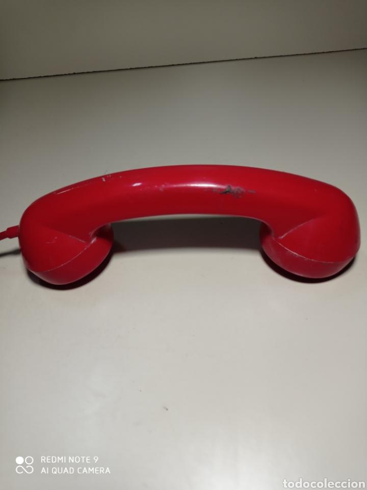 Teléfonos: Teléfono heraldo rojo de teclas de CTNE, Compañía Telefónica Nacional Española. El de línea directa. - Foto 14 - 254306575
