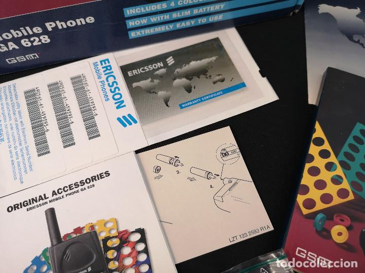 Teléfonos: Antiguo telefono movil ERICSSON GA 628 en su caja original con instrucciones y accesorios vintage - Foto 4 - 254361270