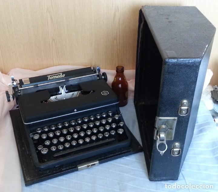 Antigüedades: Máquina escribir antigua. Marca Torpedo. Años 60. - Foto 2 - 254366735