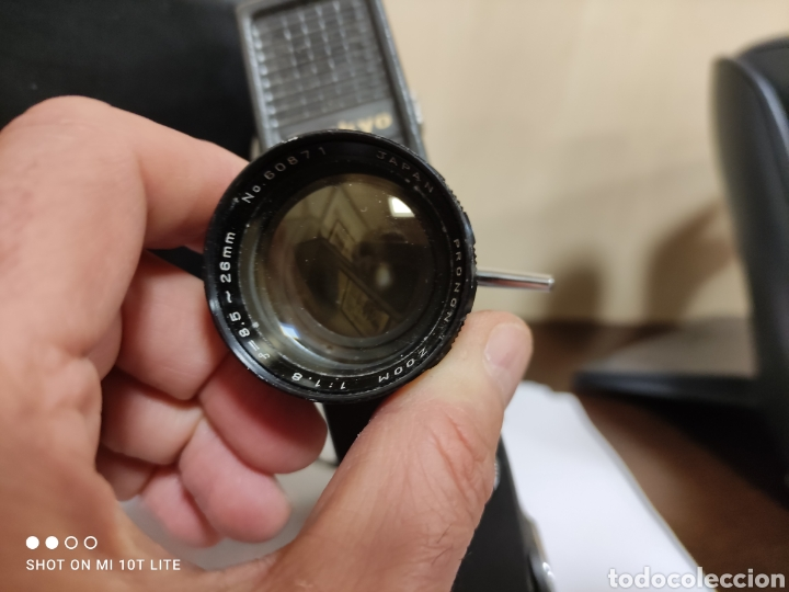 Antigüedades: Cámara de cine 8mm SANKYO 8CM.Año 1963.Con estuche. - Foto 2 - 254389960