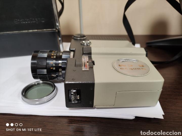 Antigüedades: Cámara de cine 8mm SANKYO 8CM.Año 1963.Con estuche. - Foto 4 - 254389960