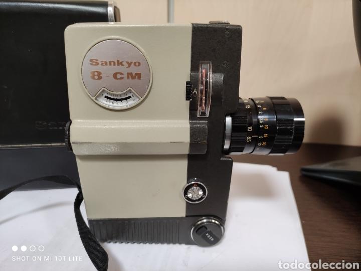 Antigüedades: Cámara de cine 8mm SANKYO 8CM.Año 1963.Con estuche. - Foto 5 - 254389960