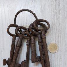 Antigüedades: LLAVES ANTIGUAS DE FORJA.. Lote 254415700