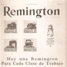Antigüedades: ANUNCIO 1926. MAQUINA DE ESCRIBIR REMINGTON . 12 X 41 CMS . VELL I BELL. Lote 254441135