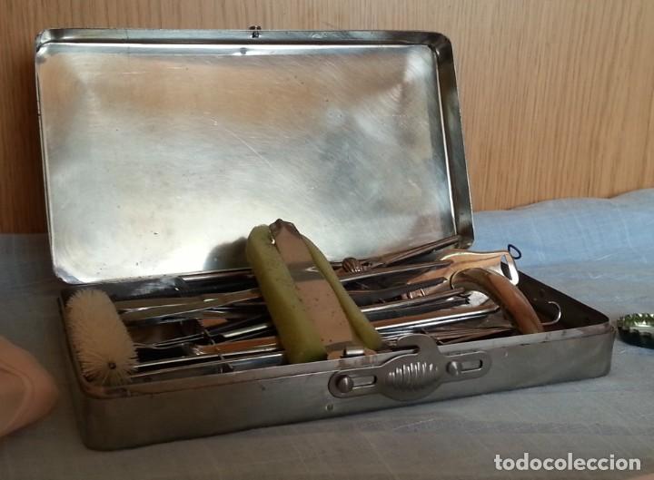 Antigüedades: Traqueotomía. Kit de Instrumental. - Foto 2 - 254452965