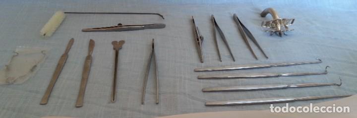 Antigüedades: Traqueotomía. Kit de Instrumental. - Foto 10 - 254452965