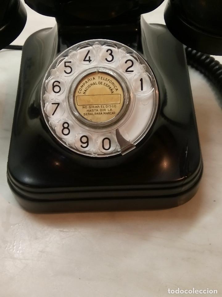 Teléfonos: ANTIGUO TELEFONO DE MESA. 1.955/60 - TELEFONICA. FUNCIONANDO. BUEN ESTADO. DESCRIP. Y FOTOS. - Foto 2 - 254567165